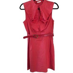 Shoshanna belted Ruffle Dress